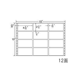 ナナフォームナナフォーム連続ラベルMタイプ15×10インチ12面(500折)MT15E