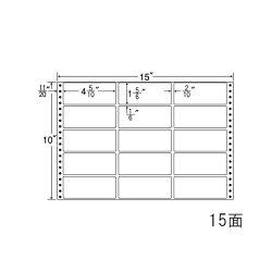 ナナフォームナナフォーム連続ラベルMタイプ15×10インチ15面(500折)MH15H