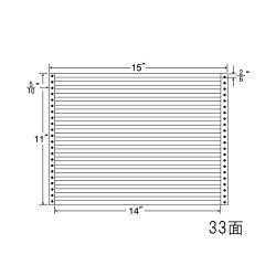ナナフォームナナフォーム連続ラベルMタイプ15×11インチ33面(500折)M15L