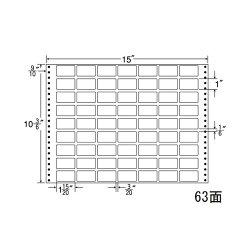 ナナフォームナナフォーム連続ラベルMタイプ15×10(3・6)インチ63面(500折)MH15V