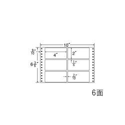 ナナフォームナナフォーム連続ラベルMタイプ10×6(3・6)インチ6面(1000折)MT10X
