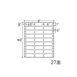 ナナフォームナナフォーム連続ラベルMタイプ9×10(3・6)インチ27面(500折)MX9i