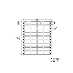 ナナフォームナナフォーム連続ラベルMタイプ9×10(3・6)インチ36面(500折)MX9L