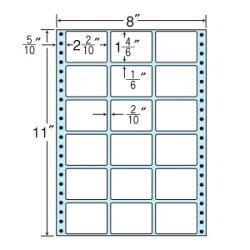 ナナフォームナナフォーム連続ラベルMタイプ8×11インチ18面(500折)MX8B