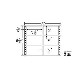 ナナフォームナナフォーム連続ラベルMタイプ8×6(3・6)インチ6面(1000折)MM8U