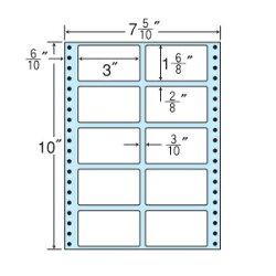 ナナフォームナナフォーム連続ラベルMタイプ7(5・10)×10インチ10面(1000折)MX7A