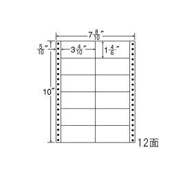 ナナフォームナナフォーム連続ラベルMタイプ7(8・10)×10インチ12面(1000折)MM7B