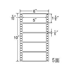 ナナフォームナナフォーム連続ラベルMタイプ6×10インチ5面(1000折)MM6J