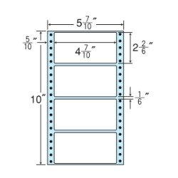 ナナフォームナナフォーム連続ラベルMタイプ5(7・10)×10インチ4面(1000折)MX5C