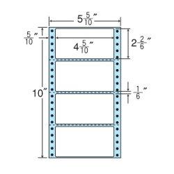 ナナフォームナナフォーム連続ラベルMタイプ5(5・10)×10インチ4面(1000折)MX5E