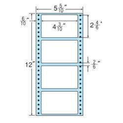 ナナフォームナナフォーム連続ラベルMタイプ5(5・10)×12インチ4面(1000折)MM5H