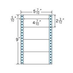 ナナフォームナナフォーム連続ラベルMタイプ5(7・10)×9インチ4面(1000折)MM5M