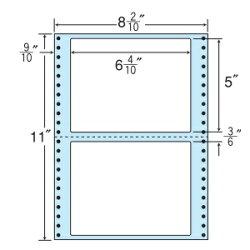 ナナフォームナナフォーム連続ラベルMタイプ100折・袋入タイプラベル8(2・10)×11インチ2面(500折)MM8ES