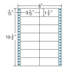 ナナフォームナナフォーム連続ラベルMタイプ100折・袋入タイプラベル8×10(3・6)インチ14面(500折)M8MS