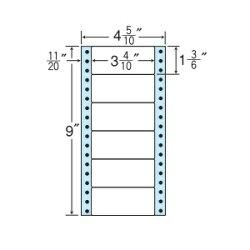 ナナフォームナナフォーム連続ラベルMタイプ100折・袋入タイプラベル4(5・10)×9インチ6面(1000折)MM4QS