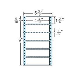 ナナフォームナナフォーム連続ラベルMタイプ5(3・10)×9インチ6面(1000折)MM5U