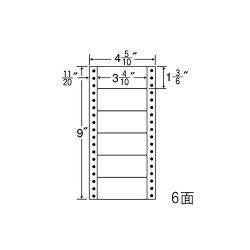 ナナフォームナナフォーム連続ラベルRタイプ再剥離タイプラベル4(5・10)×9インチ6面(1000折)R4Q