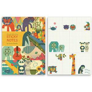 クロニクルブックス ジュンゾウ テラダ 付箋セット「Animal Adventures」 857252 【文房具なら...