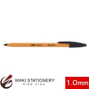 BIC ボールペン 1.0mm オレンジ (インク色:黒) E-ORMJ20EGBLK [E-ORMJ20EG] 【文房具なら和気文具】
