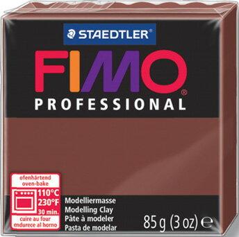 【メ可】ステッドラー CLAY FIMO オーブンクレイ フィモ プロフェッショナル <チョコレート> 8004-77
