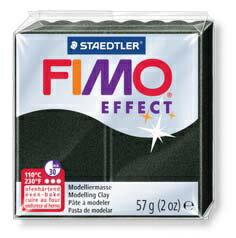 【メ可】ステッドラー CLAY FIMO オーブンクレイ フィモ エフェクト <パールブラック> 8020-907