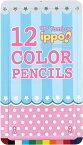 【メ可】トンボ鉛筆 スライド缶入色鉛筆 12色 ippo! プリントW03 CL-RRW0312C