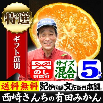 紀州和歌山西崎さんちの有田みかん約5kg特選ギフト品