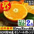 わけあり春かんきつ『セミノールオレンジ』【送料無料】和歌山県産・紀州有田産 【キズ】(お試し少量セット2.5kg)買得品・ご家庭用・果汁(ジュース)たっぷりの濃厚柑橘を産地直送