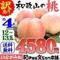 紀州和歌山の桃【ご家庭用お買得品】4kg/15玉入