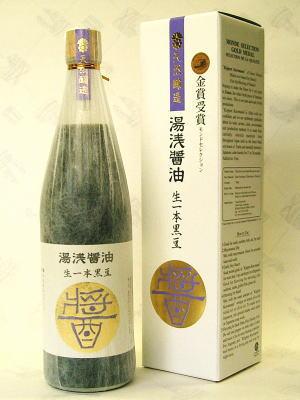 湯浅しょうゆ丹波黒豆使用生一本黒豆720ml