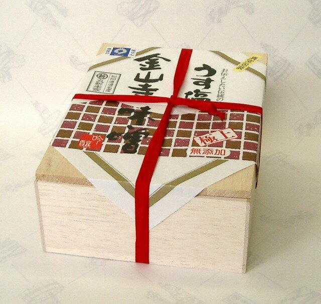 [うす塩]金山寺味噌 350g【木箱】丸新本家 [丸新10135]