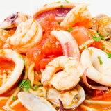 海の幸がたっぷり詰まったマーレスープ生スパゲッティ