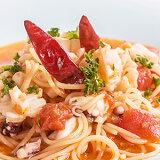 激辛トマトスープが癖になるベスビオスープ生スパゲッティ