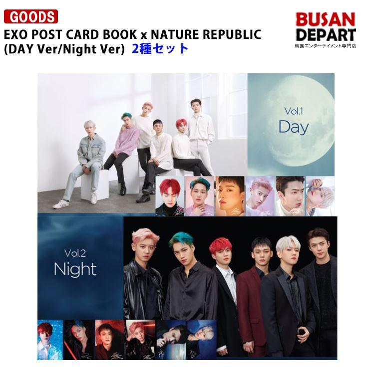 韓国(K-POP)・アジア, 韓国(K-POP) 2 EXO POST CARD BOOK x NATURE REPUBLIC (DAY VerNight Ver)