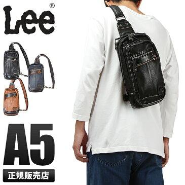Lee リー ワンショルダーバッグ ボディバッグ メンズ 合成皮革 PUレザー 軽量 rising ライジング 320-3502