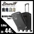 【日本正規品2年保証】トリオ ブラニフ インターナショナル スーツケース 38L〜44L 機内持ち込み ポケット TRIO BRANIFF BBT115 キャリーケース キャリーバッグ