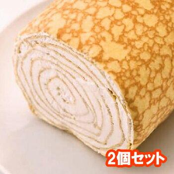 ミルクレープロール プレーン 2個セット【ミルクレープロールケーキ】京都 お土産