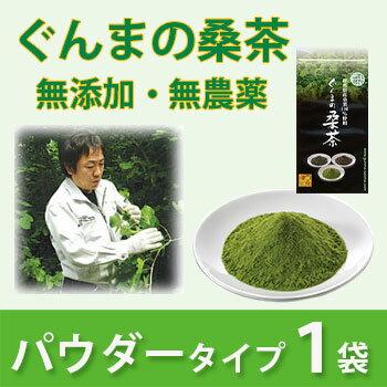 【送料無料】【専用スプーン付き】桑茶 粉末 無農薬 国産 桑の葉茶 ぐんまの桑茶(パウダータイプ) 1袋(50g) 【健康茶】【群馬県推奨品】