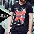 Tシャツ メンズ 大きいサイズ クロス ロゴ プリント ×半袖 Tシャツ メンズファッション 個性的 B系 ストリート系ファッション ヒップホップ ビッグサイズ ビックサイズ キングサイズ バスター 西海岸 オラオラ系 悪羅悪羅系 ブラック 黒 レッド 赤 ヤンキー