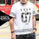 Tシャツ メンズ 大きいサイズ オラオラ系 夏服 ナンバリングプリント 半袖 Tシャツ メンズファッション ライン ペイズリー プリント 個性的 B系 ストリート系ファッション ヒップホップ ホワイト 白 ビッグサイズ ビックサイズ キングサイズ バスター ぽっちゃり 西海岸 韓国 - オラオラ系 ファッション BUSTA
