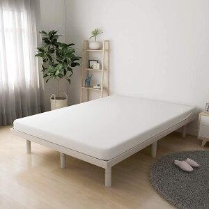 【最大1,000円OFFクーポン!】すのこベッド 脚付きベッド セミダブル 三段階高さ調整可 ベッドフレーム 天然木製 耐荷重200kg 三色 三サイズ