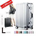 【1,000円OFF!】スーツケース Lサイズ キャリーケース キャリーバッグ フレーム TSAロッ...