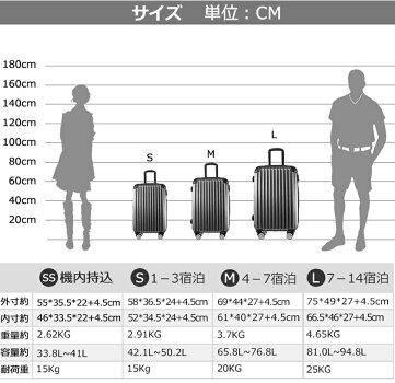 【7/18迄★8%OFFクーポン!!】スーツケースキャリーバッグキャリーケースストッパー付きMサイズ容量拡張可能ダブルファスナー4日〜7日用中型一年間保証TSAロック搭載suitcaseTravelhouseT1692