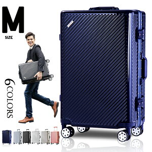 Mサイズ フレーム スーツケース キャリーケース キャリーバッグ かわいい TSAロック搭載 一年間保証 超軽量 4日 5日 6日 7日 中型 suitcase TANOBI 6008