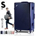 【7/18迄★8%OFFクーポン!!】スーツケース キャリーケース キャリーバッグかわいいSサイズ 一年間保証 TSAロック搭載 軽量2日 3日 小型 フレーム suitcase TANOBI 6008
