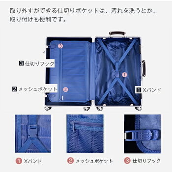 スーツケースキャリーバッグ1年間保証LサイズTSAロック搭載あす楽7日〜14日大型suitcaseYCL-909