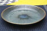 窯変センダンカレーパスタ皿(Φ22.5cm)ネイビー