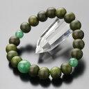 数珠ブレスレット 約10ミリ 緑檀(生命樹) 印度翡翠  腕輪念珠/数珠/...