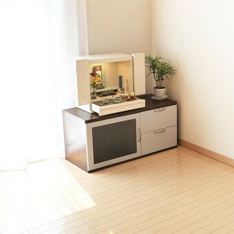 ミニ国産仏壇アクア2ホワイト15号洋室設置イメージ2
