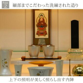 【ミニ国産仏壇ピアフ桜蒔絵ホワイト17号】Point2細部までこだわった洗練された造り